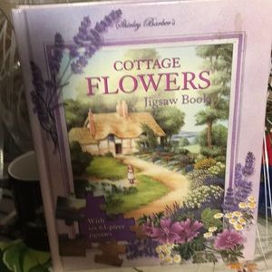 Cottage flowers jigsaw book 63 piece puzzles